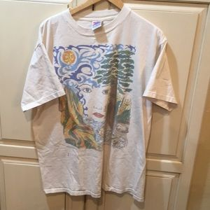 Vintage 90s environmentalist graphic art t shirt